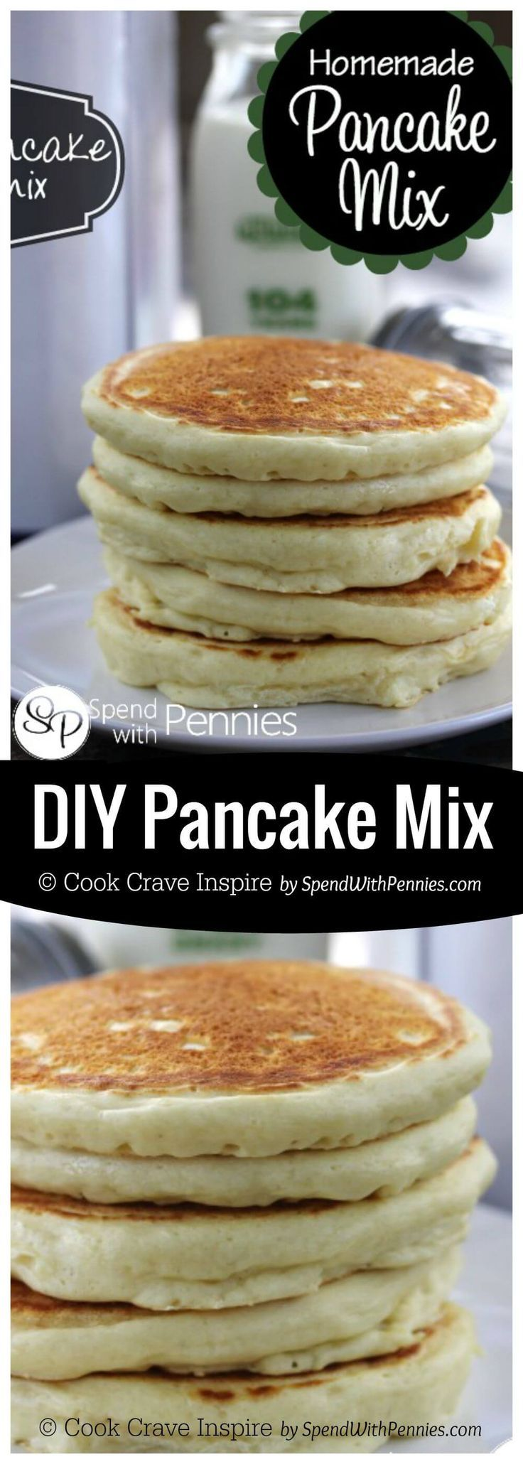 This DIY Pancake Mix Recipe is easy to make with ingredients you already have on hand, it keeps for months... and it makes the most delicious fluffy pancakes!