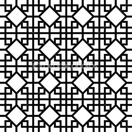 padrão chinês — Ilustração vetorial #7340898