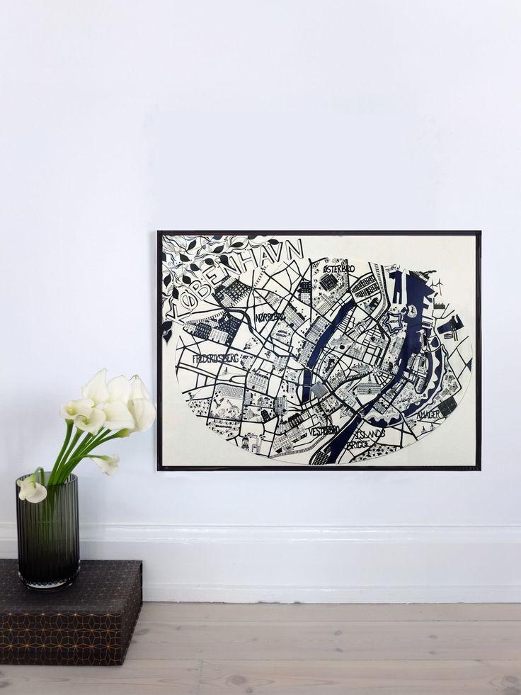 KØBENHAVN MAP - 2012 50x70cm Ink & Acrylic