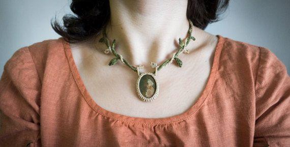 Collar de macramé, collar bohemio de macramé, collar bohemio de fantasía, collar boho, joyas elf