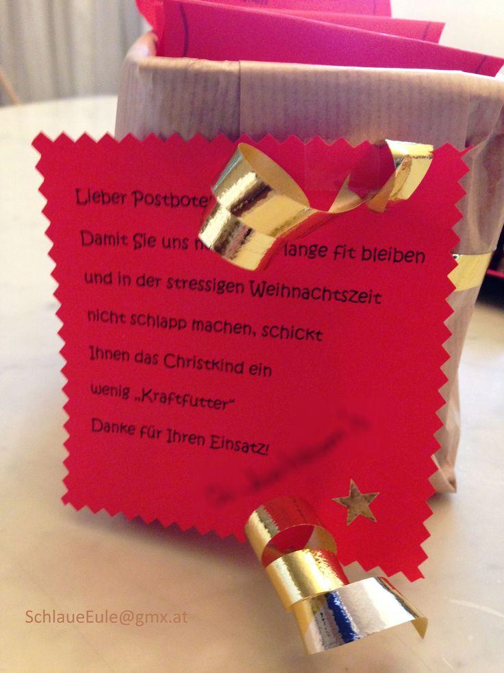 Danke An Den Postboten Zu Weihnachten