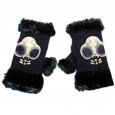 Fur Trim Knit Gloves - Kitty. www.nixdungeon.co.nz