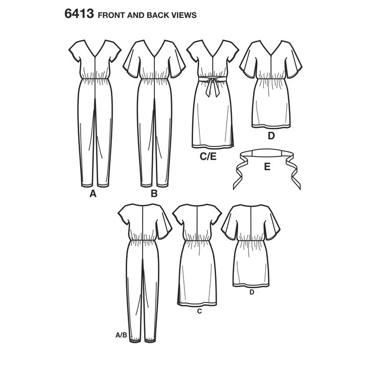 New Look 6413 - Jumpsuit and Dress in Two Lengths