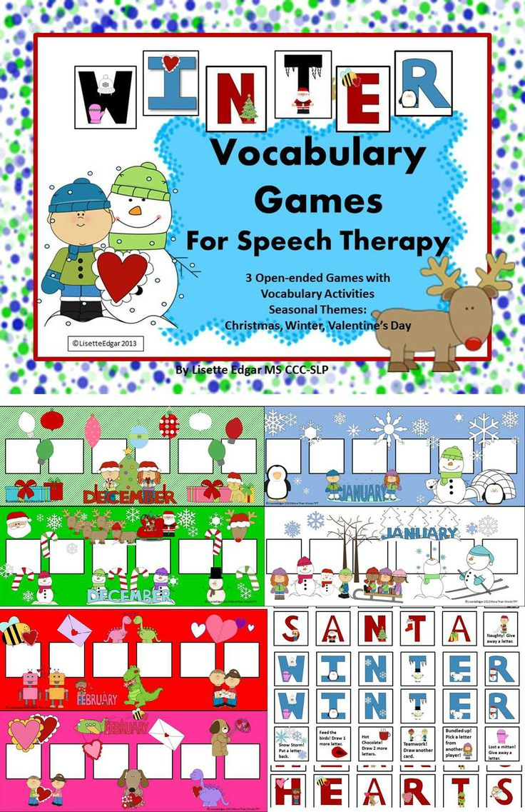 winter speech therapy vocabulary games christmas winter valentine 39 s day valentines. Black Bedroom Furniture Sets. Home Design Ideas