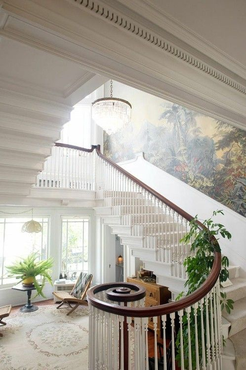 Foyer Staircase Quest : Images about entry foyer stairs french country