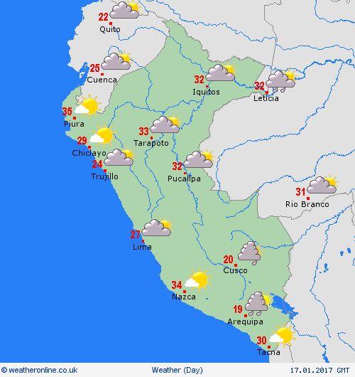 overview Peru South America Forecast maps