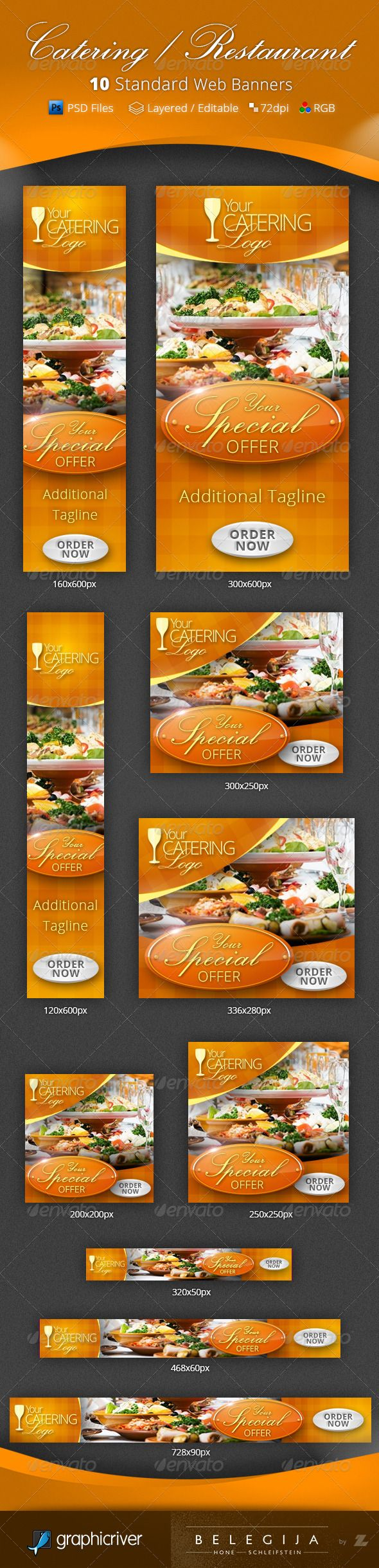 Catering Restaurant Web Banners