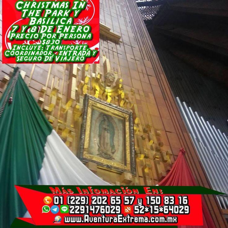 Vamos a la #BasílicaDeGudalupe y #SixFlags este 7 y 8 de enero. El paquete te incluye transportación viaje redondo, coordinador de grupo, seguro de viajero y la entrada el costo por persona es de $830 Recuerda que salimos de #BocadelRío #Veracruz #Cardel y #Xalapa Reserva YA  Más información en: Tels: 01 (229) 202 65 57 y 150 83 16 PRIP ID: 52*15*64029 Celular y WhatsApp 2291476029 y 2291508316 Email: turismoenveracruz@gmail.com Link http://www.veracruzextremo.com/sixflags.htm