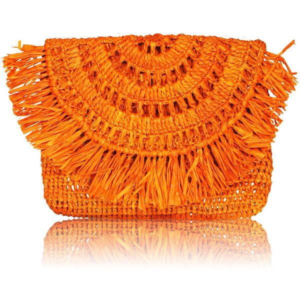 Mia mini clutch ($81) ❤ liked on Polyvore featuring bags, handbags, clutches, print purse, raffia clutches, mini pochette, miniature purse and mini purse