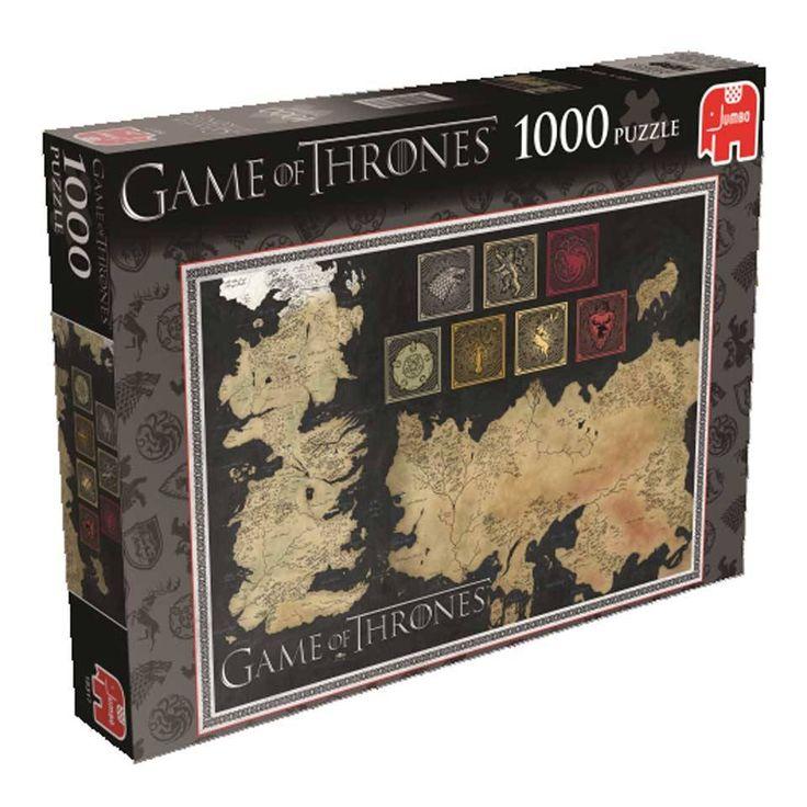 Puzzel Game of Thrones 1000 stuks  Puzzel Game of Thrones 1000 stuks. Afmeting puzzel: 68 x 49 cm.  EUR 16.99  Meer informatie