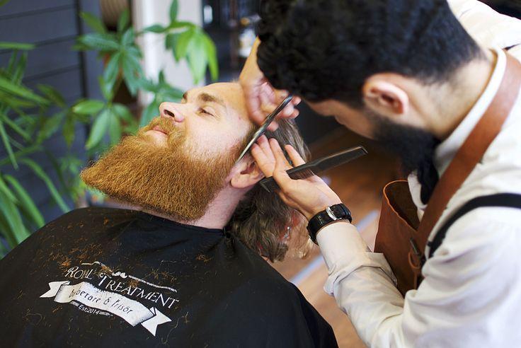 Sharp ginger beard! A trim at the barbershop Royal Treatment in Ängelholm, Sweden. Barber: Mohammad Alasmar