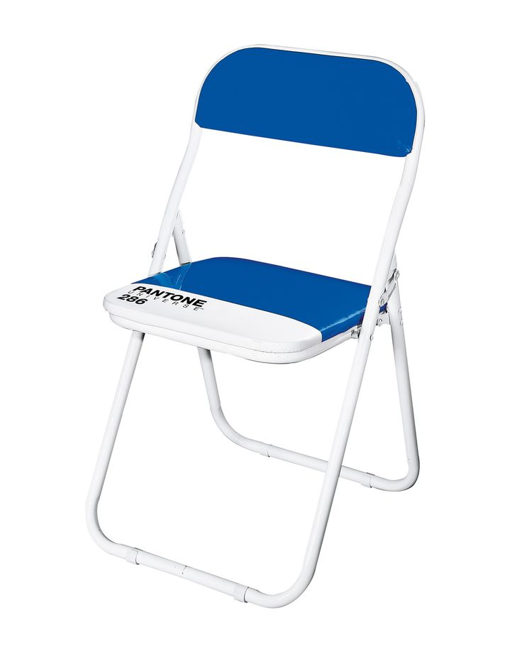 Pantone 286 Blue Metal Folding Chair (Set of 6) by Seletti