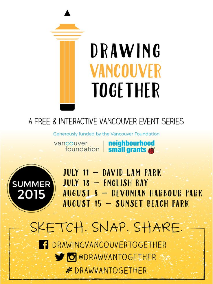 Drawing Vancouver Together — Blank Canvas Design Co.   A poster design for the Drawing Vancouver Together event series. Logo design, brand identity and marketing collateral by Blank Canvas Design Co. Contact us to help promote your next event!