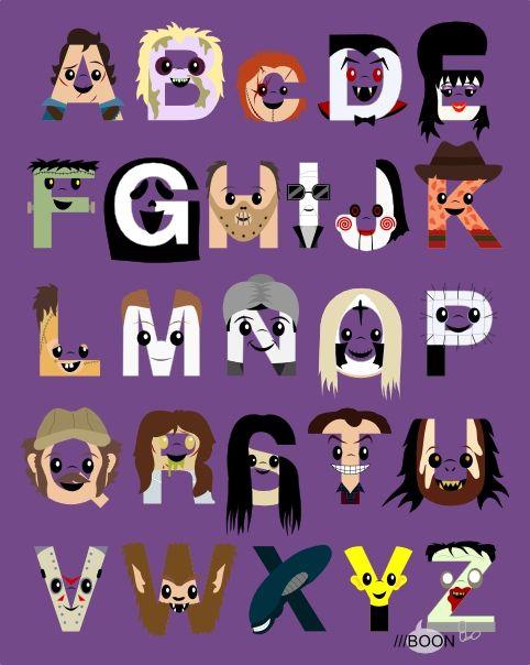 The Horror Icon Alphabet