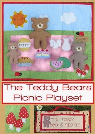 """Teddy Bears' Picnic Playset"" designed by Fiona Tully for Two Brown Birds."