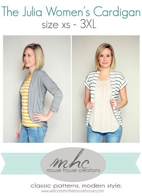 The Julia Women's Cardigan: It's Here! | welcometothemousehouse.comwelcometothemousehouse.com