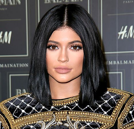 Kylie Jenner arrives at the BALMAIN X H&M collection launch on Oct, 20