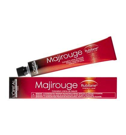 L'Oréal Professionnel Majirouge Rubilane Haarverf 5.56 50ml  L'Oréal Professionnel Majirouge Rubilane. Permanente crèmekleuring voor zeer levendige roodtinten met intensieve glans en optimale dekking. Door de 'Ionen-G' en de 'HiChroma' wordt het haar verstevigd verzorgd en is het kleurresultaat intensief en lang houdbaar. Majirouge Rubilane verbetert tevens de haarstructuur en zorgt voor intense kleurdiepte.  EUR 10.50  Meer informatie