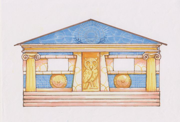 Cabin 6-Athena goddess of wisdom of battle strategy. Comment if this is your cabin. (1/10)