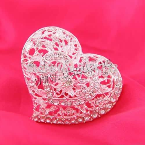 Cheap jewelri, Buy Quality silver trim directly from China silver shell jewelry Suppliers: Free shipping!!!Zinc Alloy Brooches,creative jewelry, Heart, silver color plated, with rhinestone, nickel, lead & ca