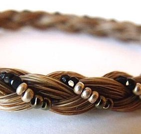 Glamorous Beaded Horse Hair Bracelet, Jewelry :: Bracelets :: Clickin Cowgirls