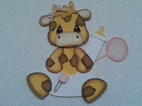 BABY GIRAFFE ANIMAL PAPER PIECING KIDS ANIMALS BY MY TEAR BEARS *KIRA* from My Tear Bears