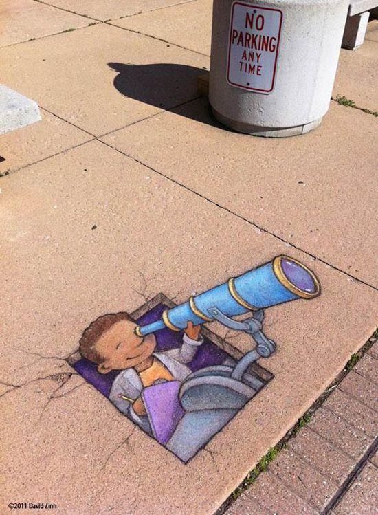 Best Chalk Paintings Street Art Images On Pinterest Street - David zinns 3d chalk art adorably creative