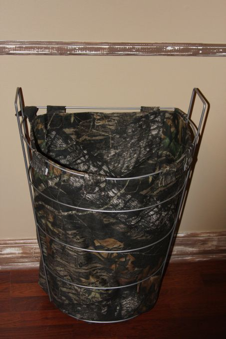 A Hunters Haven...camo clothes hamper