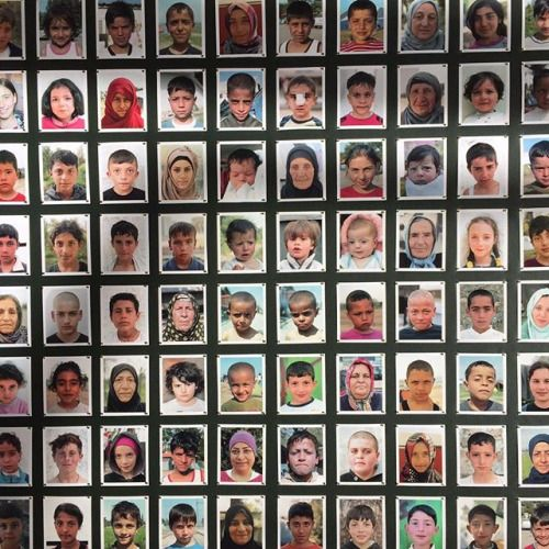 @foreignerdigital taking over for @bjp1854 until Sunday.  The Women and Children of Idomeni Idomeni Greece April 2016  Handmade frame made up of 100 passport photos of women and children that were living in the terrible conditions of the Idomeni camp in Greece once the Macedonian border was closed.  Foreigner @tjboulting 16 March - 8 April Tuesday - Saturday 11am - 6pm TJ Boulting Gallery 59 Riding House Street London W1W 7EG  #foreigner #foreignerdigital #bjpipa2017 #bjpipa #bjp1854…