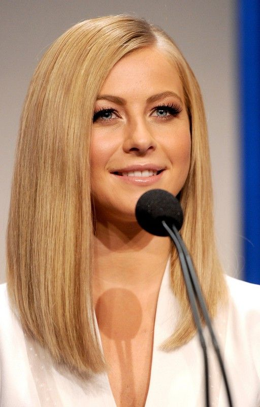 Julianne Hough Lob Hairstyle - Long Straight Bob Hairstyle for Women