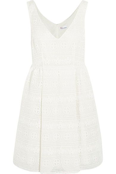 REDValentino - Crocheted Lace Mini Dress - White - IT46