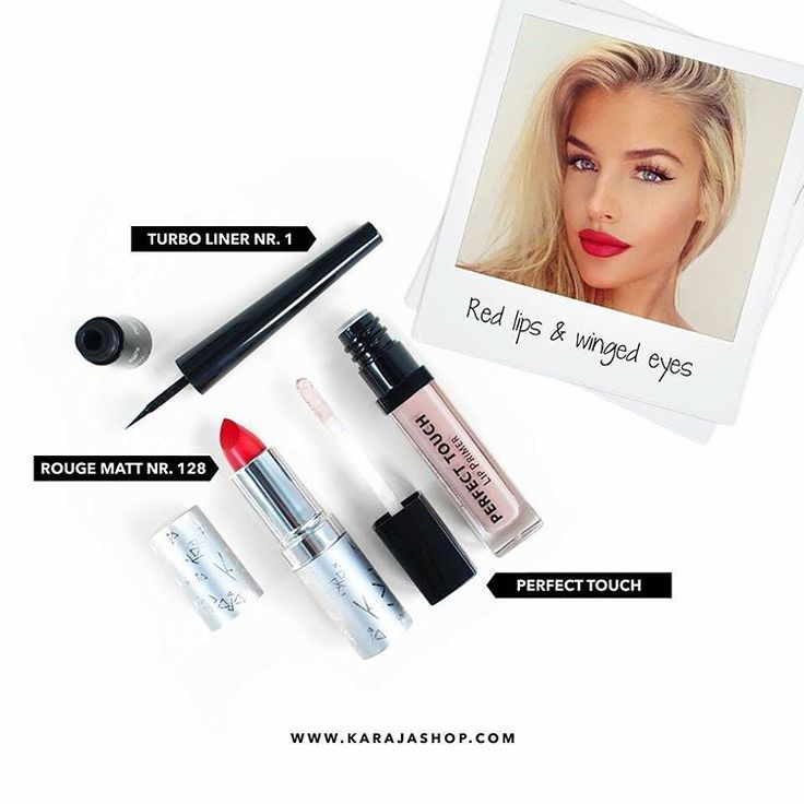 We are obsessed with this classy look  #karaja #makeup #lipstick #eyeliner…