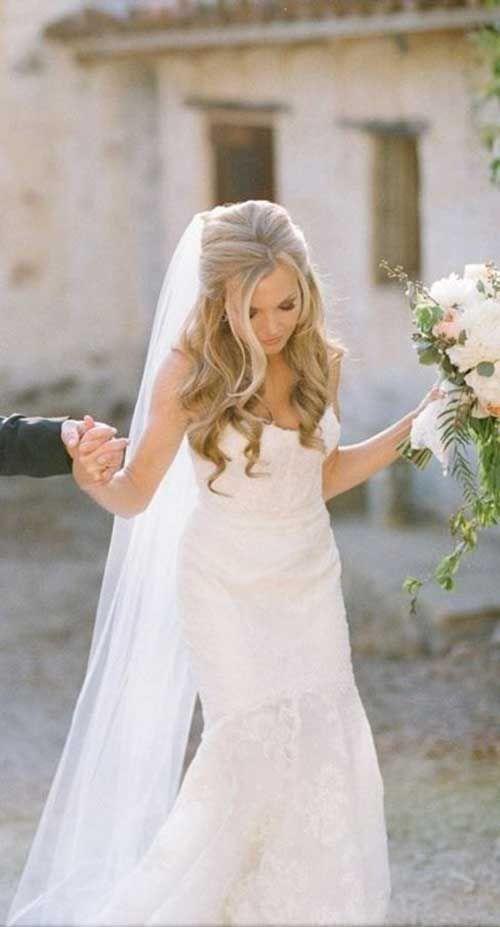 20 Best Wedding Hairstyles Half Up – Long Hairstyles 2015