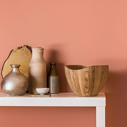 Copper Orange with wood, terracotta and metallics. Read more on the blog at YasminChopin.com, we are #TalkingInteriors