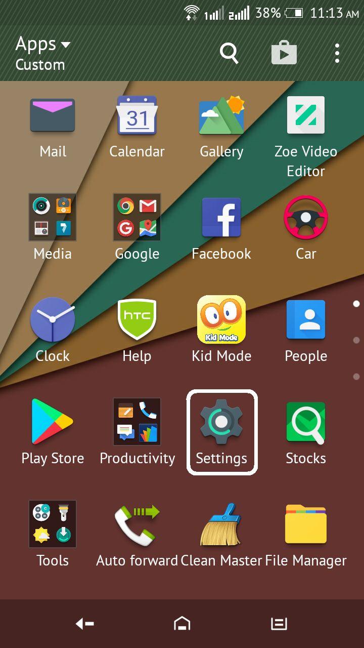 App drawer in andorid phone play store app shareit app