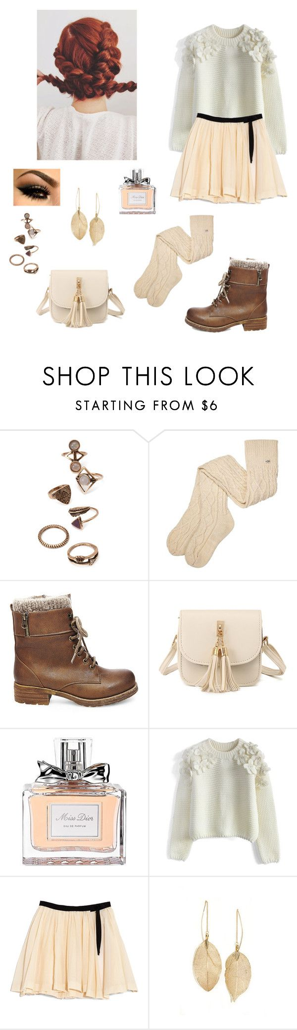 """""""Meeting the Durmstrangs ..."""" by stormfighter ❤ liked on Polyvore featuring Forever 21, UGG, Steve Madden, Christian Dior, Chicwish, Band of Outsiders and LULUS"""