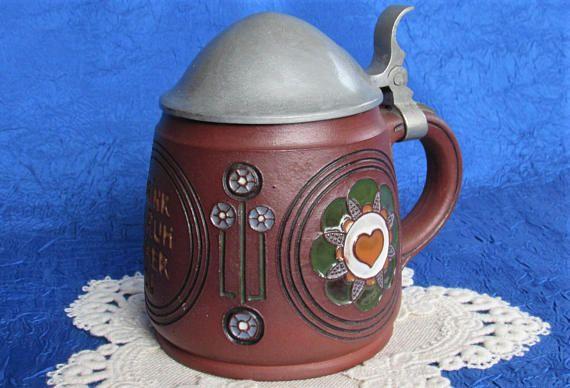 1910s Terra Sigillata Antique Dümler Breiden German Beer Stein