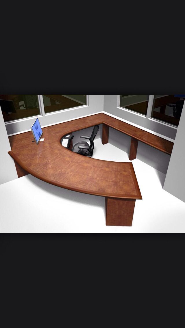 Custom Curved Desk. See More. Master control