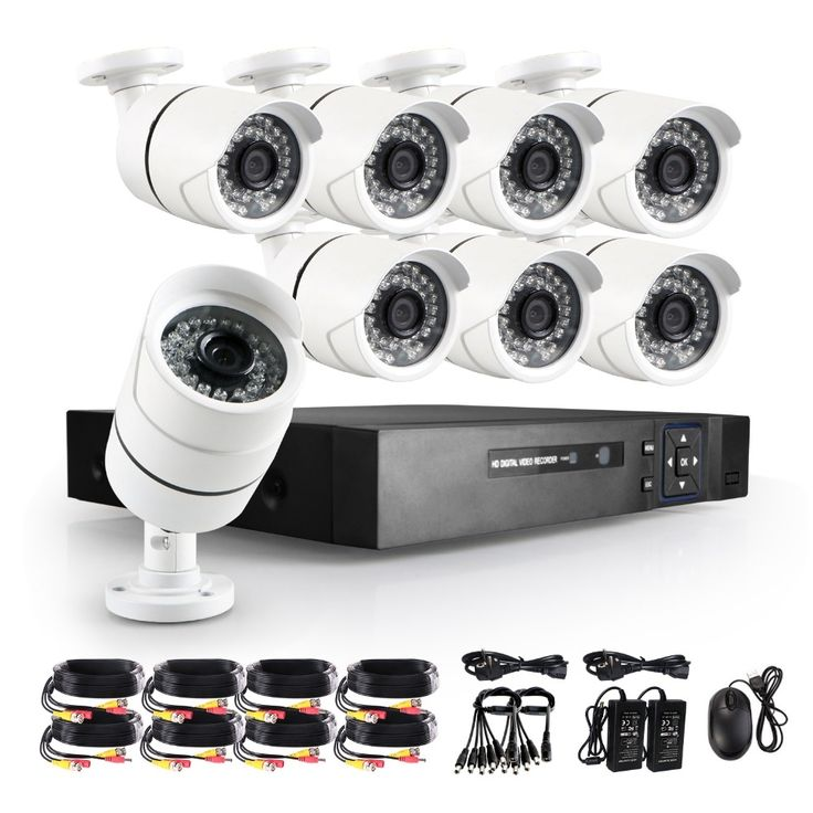 329.99$  Buy now - http://ali664.worldwells.pw/go.php?t=32787632184 - 5 in 1 8CH 1080N HDMI DVR 3000TVL 1080P HD Outdoor Security Camera System 8 Channel CCTV TVI CVI DVR Kit AHD Camera Set 329.99$