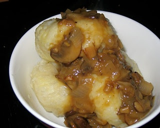 Kluski Slaskie: Polish Potato Dumplings with Mushroom Sauce