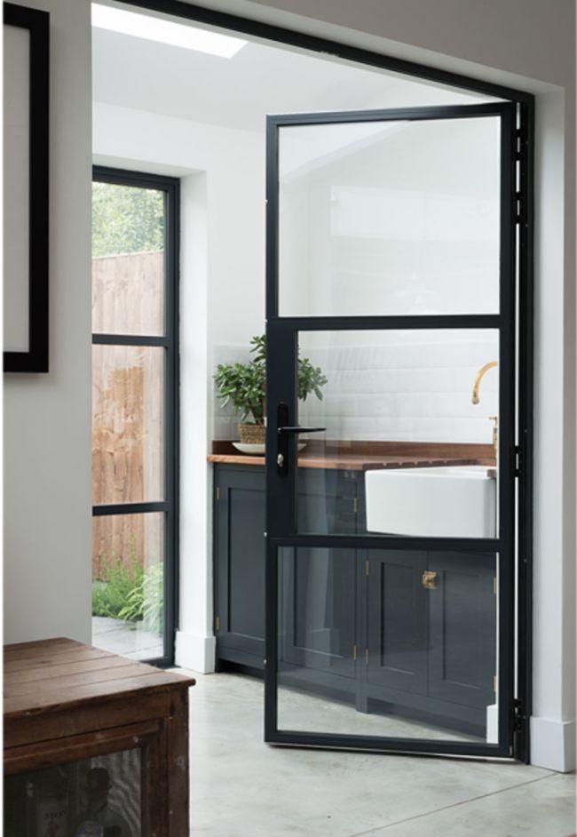deVOL Shaker Kitchens - Design Chic- amazing black frame doors