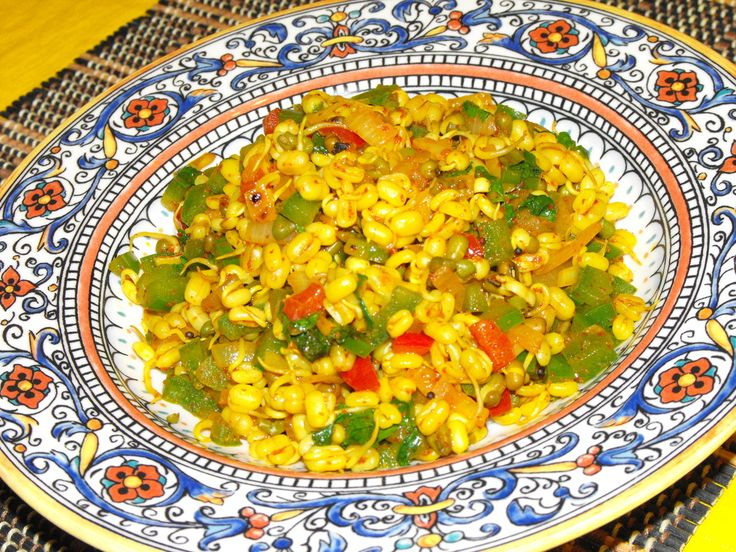 Recipe for Sprouted Mung Salad  This is a very healthy salad- light to digest and full of plant proteins and nutrients.