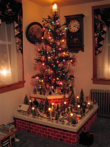 9 best tiny teeny town images on Pinterest Christmas villages - christmas town decorations