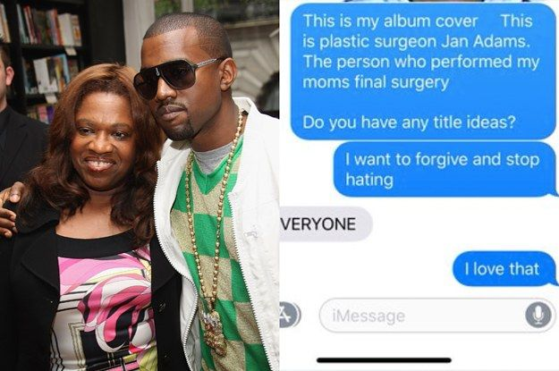 Kanye West Says His Next Album Cover Will Be A Mugshot Of His Late Mother S Surgeon Album Covers Kanye West Mug Shots