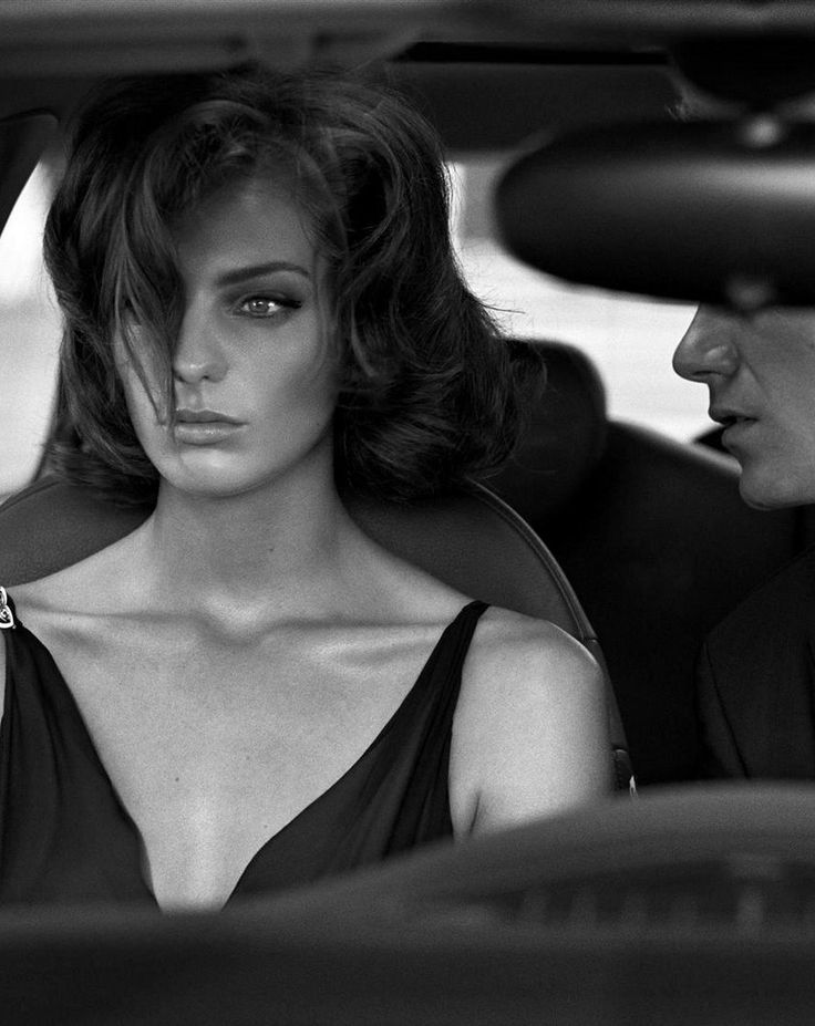 Daria Werbowy in Cinema Stills for Vogue Italia, October 2003 Shot by Steven Meisel Styled by Brana Wolf
