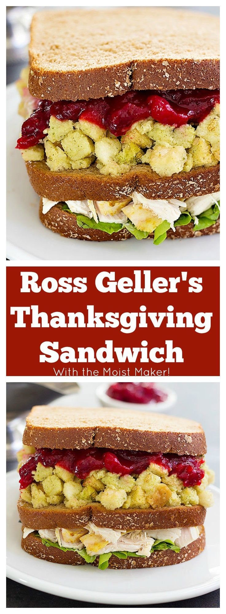 Inspired by a classic episode of Friends, Ross Geller's Thanksgiving Sandwich with the Moist Maker is a great way to use up all those leftovers from Thanksgiving. Make sure to write your name on your sandwich!
