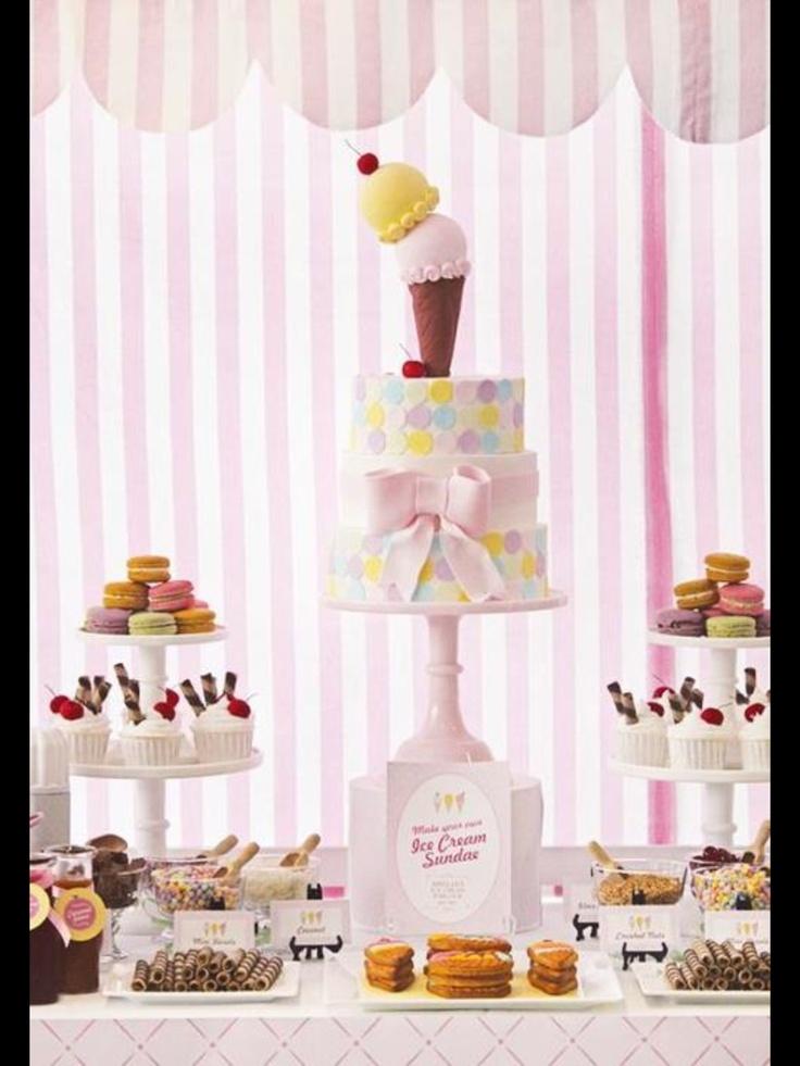 icecream shower/birthday