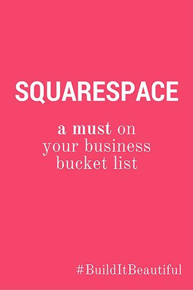 Squarespace: a must on your business bucket list! #squarespace #builditbeautiful #unfoldatelier