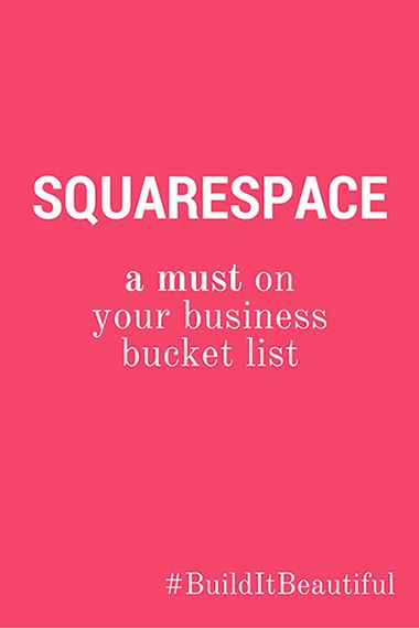 Squarespace: a must on your business bucket list! #squarespace #builditbeautiful #unfoldatelier