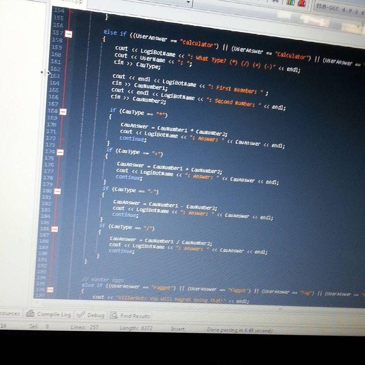 Added a simple calculator to my LogiBot also adding easter eggs  #c #coding #dev #siri #c #devc #codinglife #javascript #visualstudio #gamedev #ai #codingai #script #scripting #lol #programming #progress #m  Follow these amazing people  @developers_team